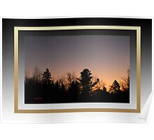 Dawn at Mont Laurier (framed for wall art/prints) Poster