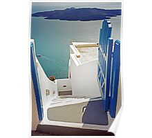 Gateway to the Caldera, Santorini Poster