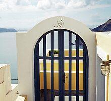 Doorway to the Caldera, Santorini by Leigh Penfold