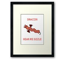 Dracon the Bacon Dragon Framed Print