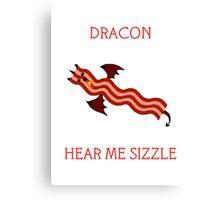 Dracon the Bacon Dragon Canvas Print