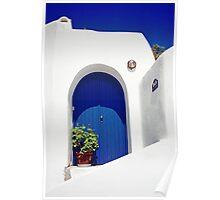 Blue Door, Santorini Poster