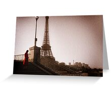 La Dame en Rouge Greeting Card