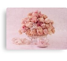 Dried Peony Still Life Canvas Print