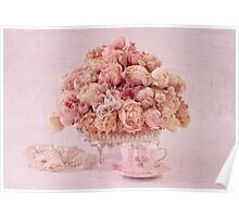 Dried Peony Still Life Poster