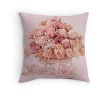 Dried Peony Still Life Throw Pillow