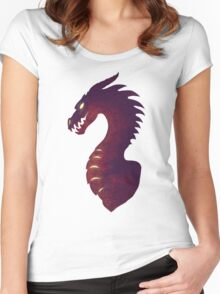 Medieval Dragon Women's Fitted Scoop T-Shirt