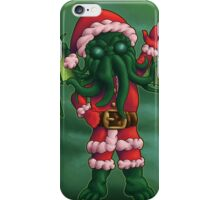 A Cthulhu Christmas time iPhone Case/Skin