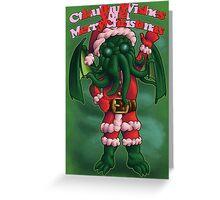 A Cthulhu Christmas time Greeting Card