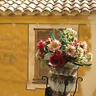 A lovely flowerpot in an old French village by dolphin