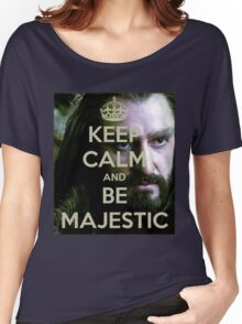 Keep Calm and be MAJESTIC! Women's Relaxed Fit T-Shirt