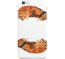 Two Sleeping Foxes iPhone Case/Skin