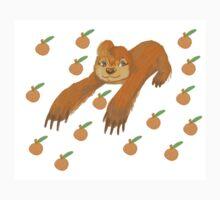 Sloth with Oranges Kids Tee