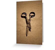 Scissors Greeting Card