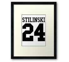 Stiles Stilinski Jersey #24 - Black Text Framed Print