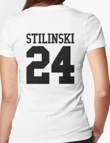 Stiles Stilinski Jersey #24 - Black Text T-Shirt