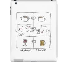 Why choose ? I love both ! / Cat (& dog) doodle iPad Case/Skin