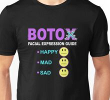 BOTOX - Facial Expression Guide (for dark colors) Unisex T-Shirt