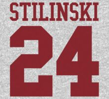 Stiles Stilinski Jersey #24 - Red Text by EIDO