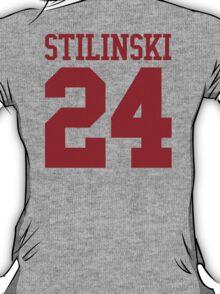Stiles Stilinski Jersey #24 - Red Text T-Shirt