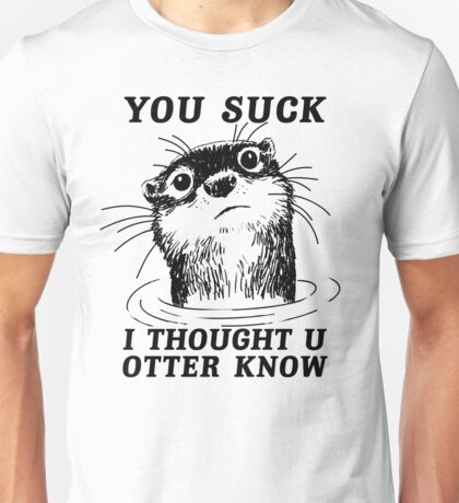 Angry Otter Unisex T-Shirt