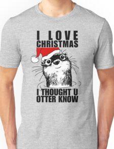 Christmas Otter Unisex T-Shirt