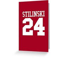 Stiles Stilinski Jersey #24 - White Text Greeting Card
