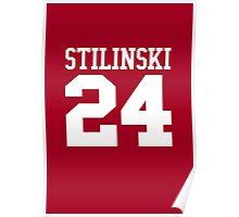Stiles Stilinski Jersey #24 - White Text Poster