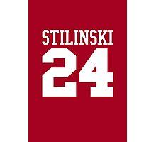 Stiles Stilinski Jersey #24 - White Text Photographic Print