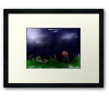 """ONE DARK HOLLOWEEN NIGHT"" Framed Print"