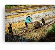 Following in Father's Footsteps Canvas Print