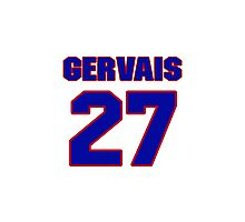 National Hockey player Bruno Gervais jersey 27 Photographic Print