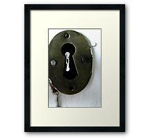 The Keyhole Framed Print