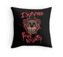 I Survived Five Nights At Freddy's Pizzeria Throw Pillow