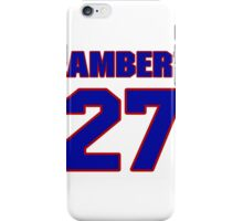 National Hockey player Denny Lambert jersey 27 iPhone Case/Skin