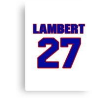 National Hockey player Denny Lambert jersey 27 Canvas Print