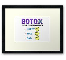 BOTOX - Facial Expression Guide (for light colors) Framed Print