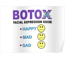 BOTOX - Facial Expression Guide (for light colors) Poster