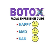 BOTOX - Facial Expression Guide (for light colors) Photographic Print
