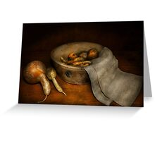 Kitchen - Vegetable - A still life with gourds Greeting Card