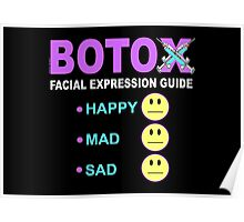 BOTOX - Facial Expression Guide (for dark colors) Poster