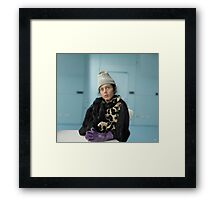 Perplexed and Frozen Framed Print