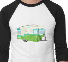 Retro Hipster Trailer Men's Baseball ¾ T-Shirt