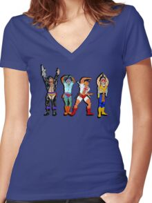 YMCA He-Man Women's Fitted V-Neck T-Shirt