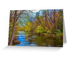 USA. Connecticut. River. Autumn. Greeting Card