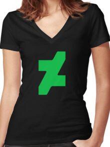 New DeviantArt Logo Women's Fitted V-Neck T-Shirt
