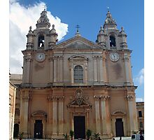 The Cathedral of Mdina Photographic Print