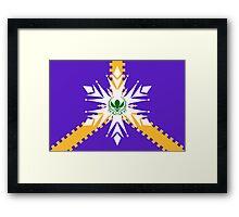 Elsanna flag w/ stripes Framed Print