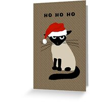 Siamese Santa Greeting Card
