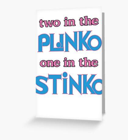 Perverted Plinko Greeting Card